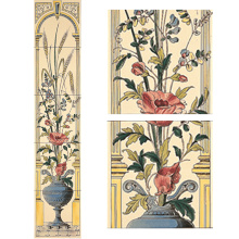 Stovax Poppy & Wheatsheaf Tile Set, набор плитки 5 шт