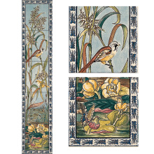 Stovax Birds & Butterfly Tile Set, набор плитки 5 шт