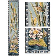 Stovax Birds & Rushes Tile Set, набор плитки 5 шт