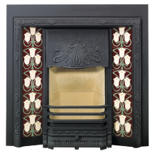 Stovax Art Nouveau Tiled Fireplace
